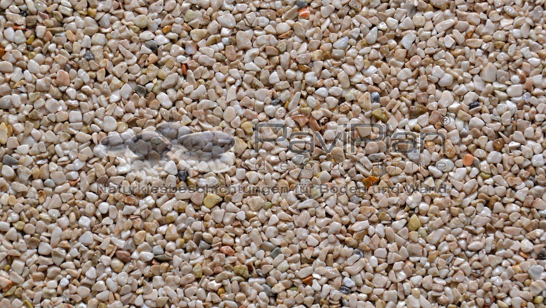 Steinteppich Marmorkies Fein BeigeScuro Steinteppich & Co